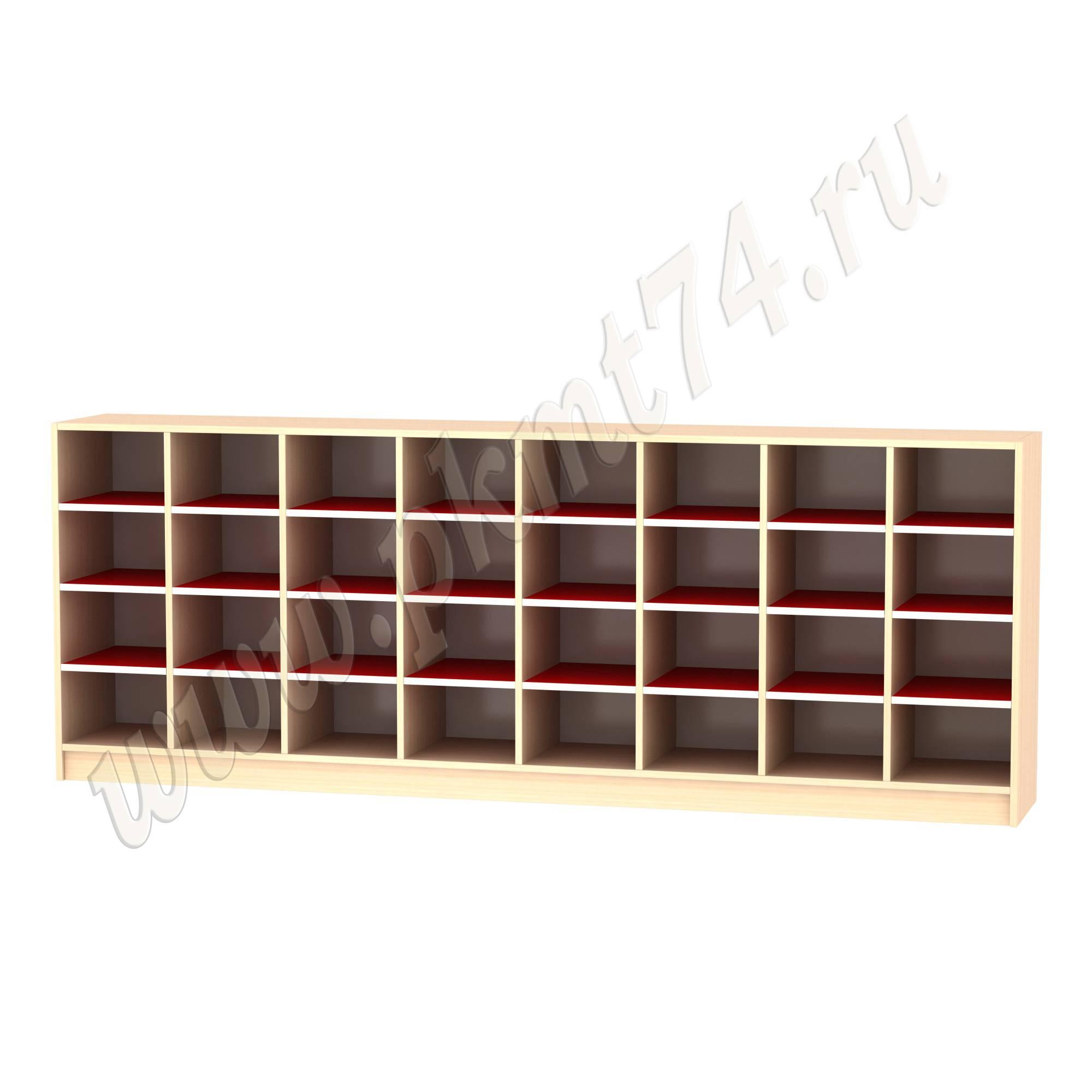 Шкаф для горшков 32 ячейки МТ 17-43 Дуб Мол - Красный