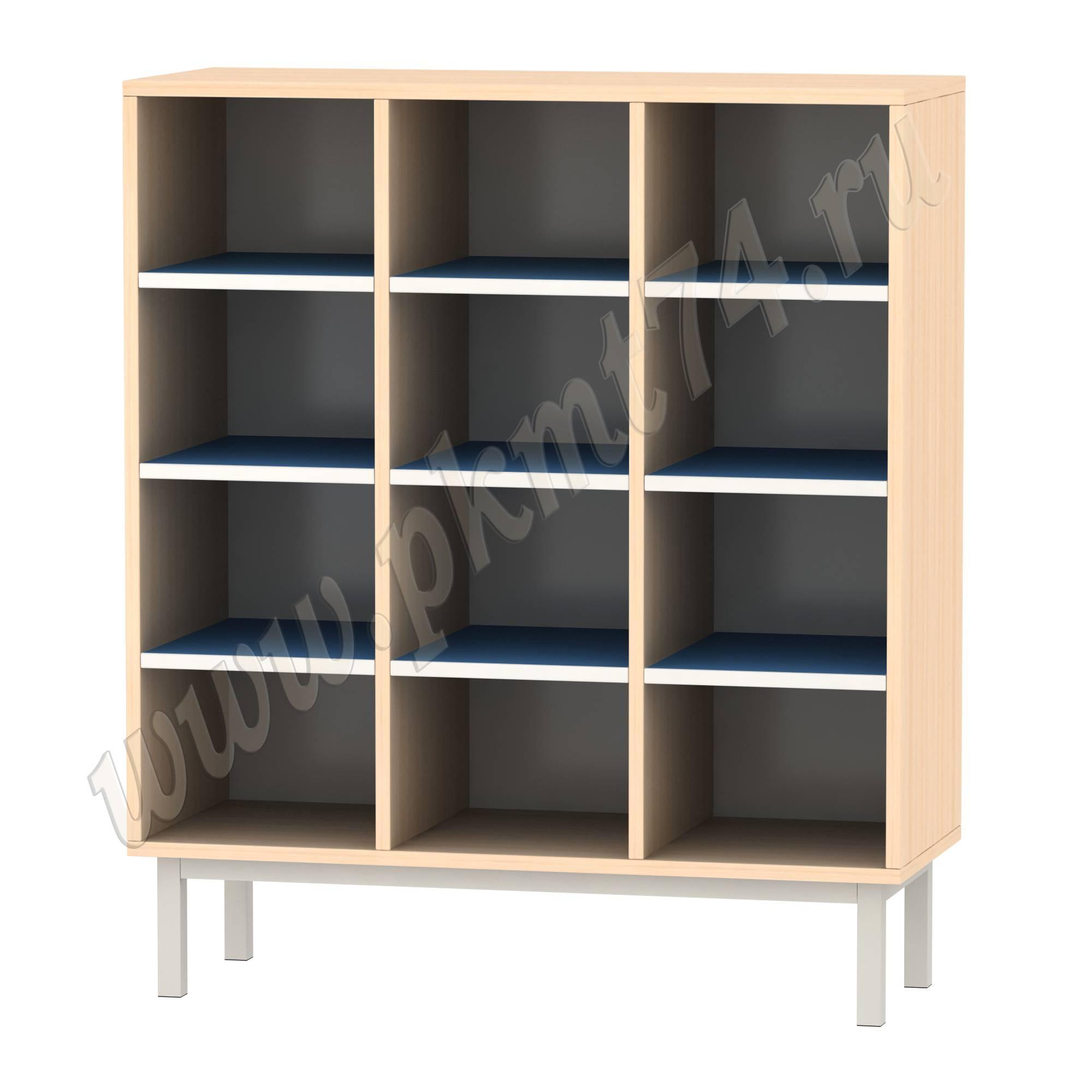 Шкаф для горшков на 12 ячеек МТ 17-84 ДубМол-Синий