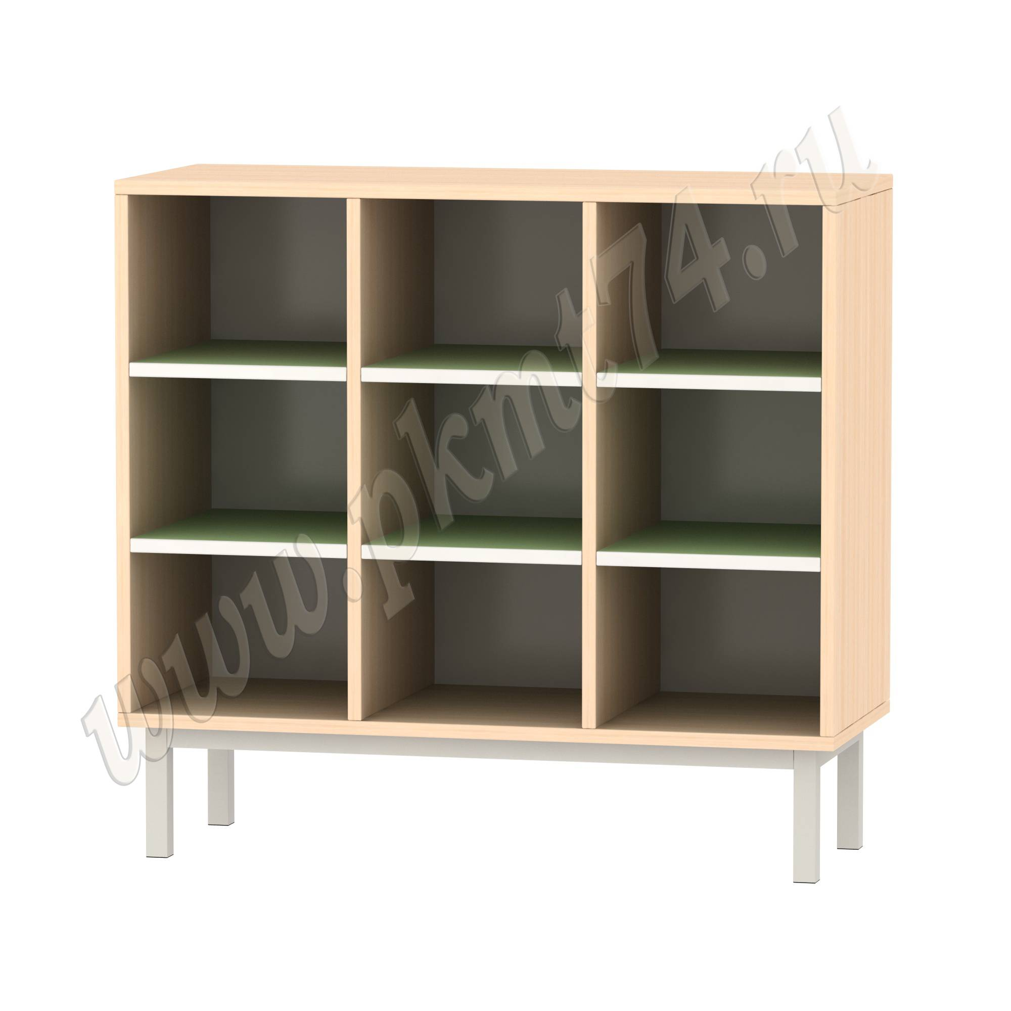 Шкаф для горшков на девять ячеек МТ 17-80 ДубМол Зелёный