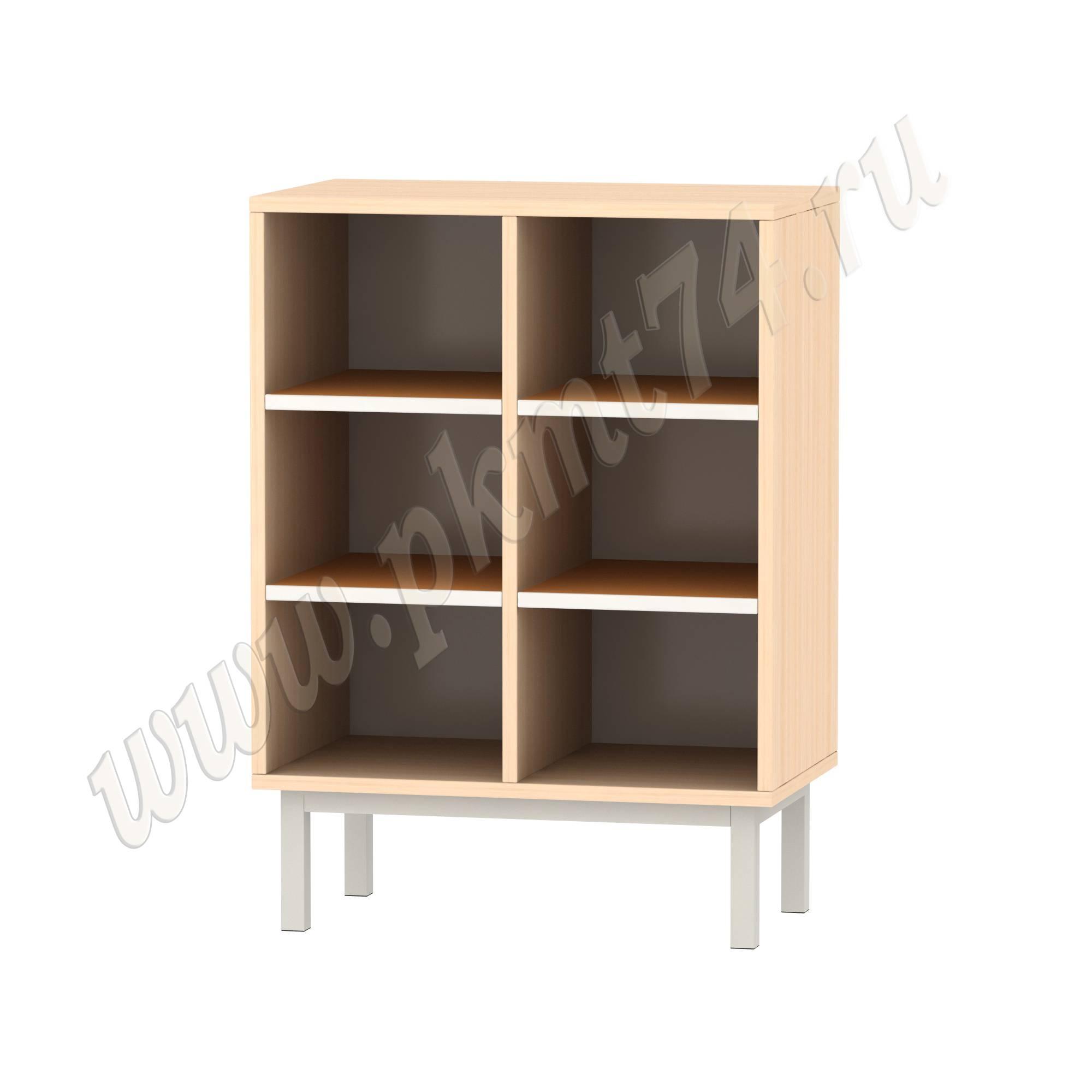 Шкаф для горшков на шесть ячеек МТ 17-79 ДубМол Оранж