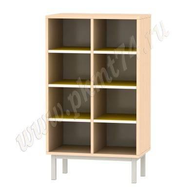 Шкаф для горшков на восемь ячеек МТ 17-83 ДубМол-Желтый