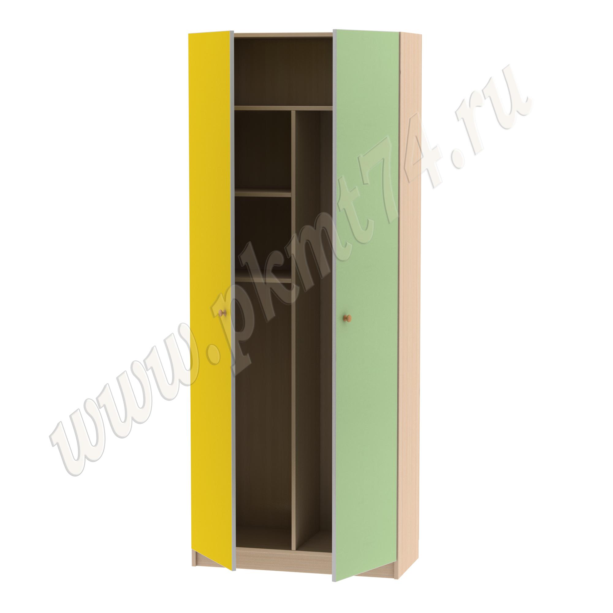 Шкаф для хранения хозяйственного инвентаря МТ 17-16 Жел-Салат