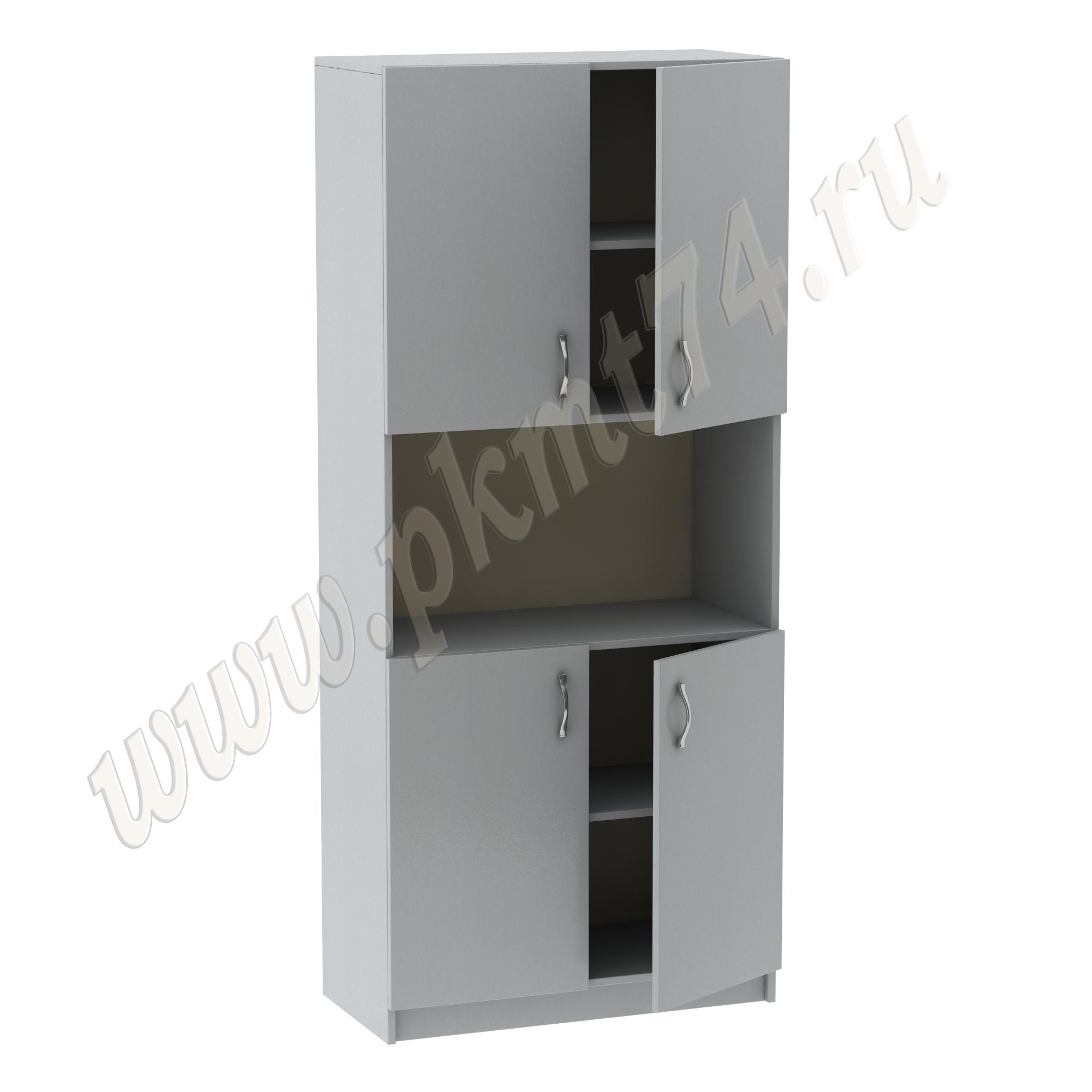 Шкаф для кабинета с нишей MT 14-36 Серый