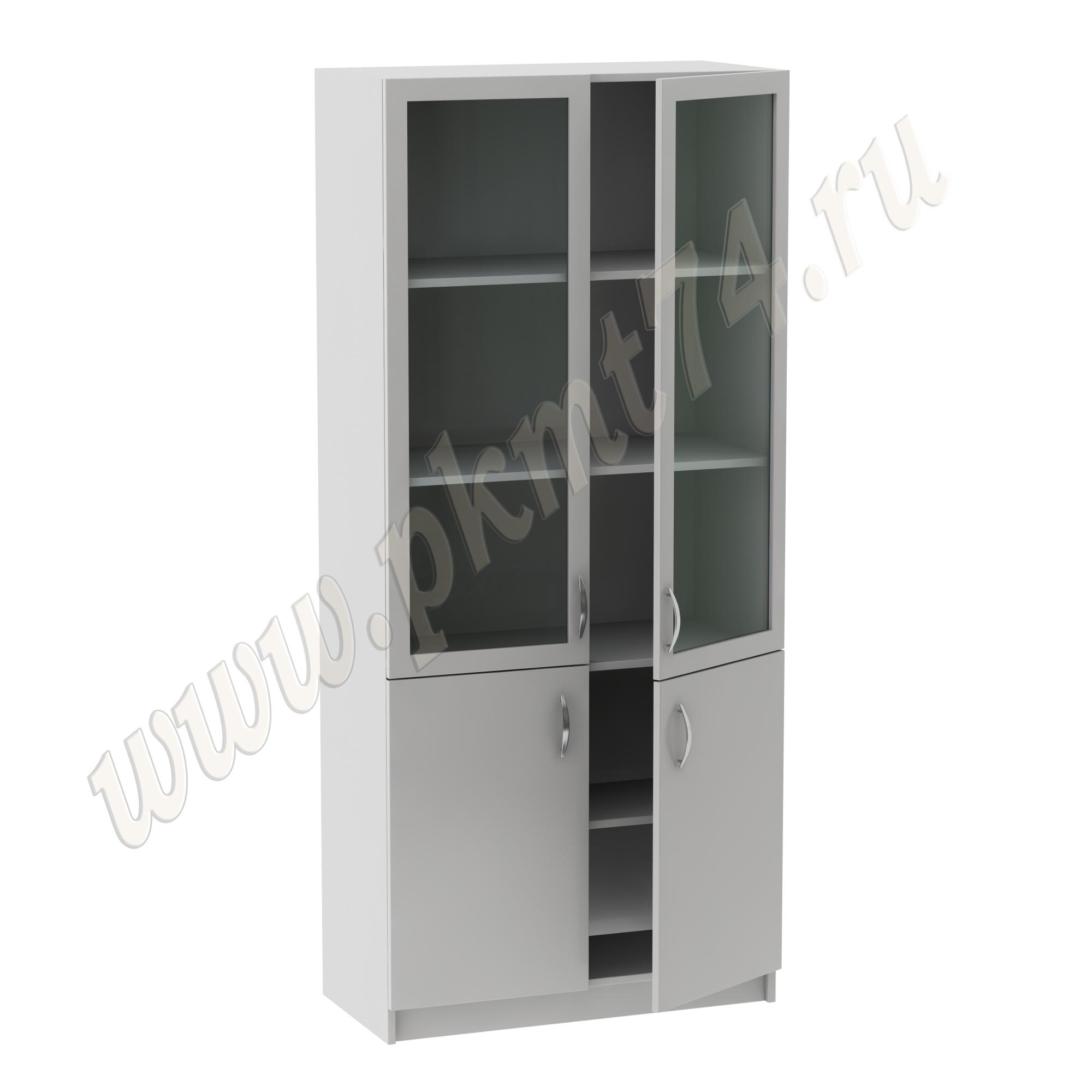Шкаф для кабинета врача со стеклом в рамке MT-14-5