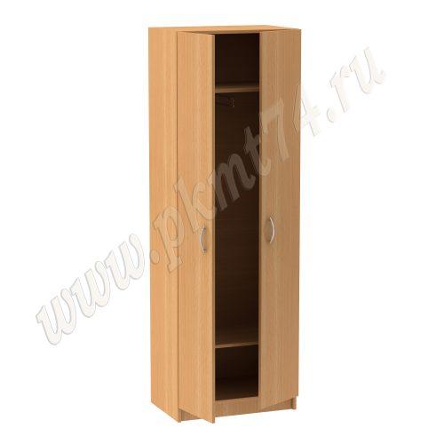 Шкаф для одежды узкий, с выкатываемой штангой