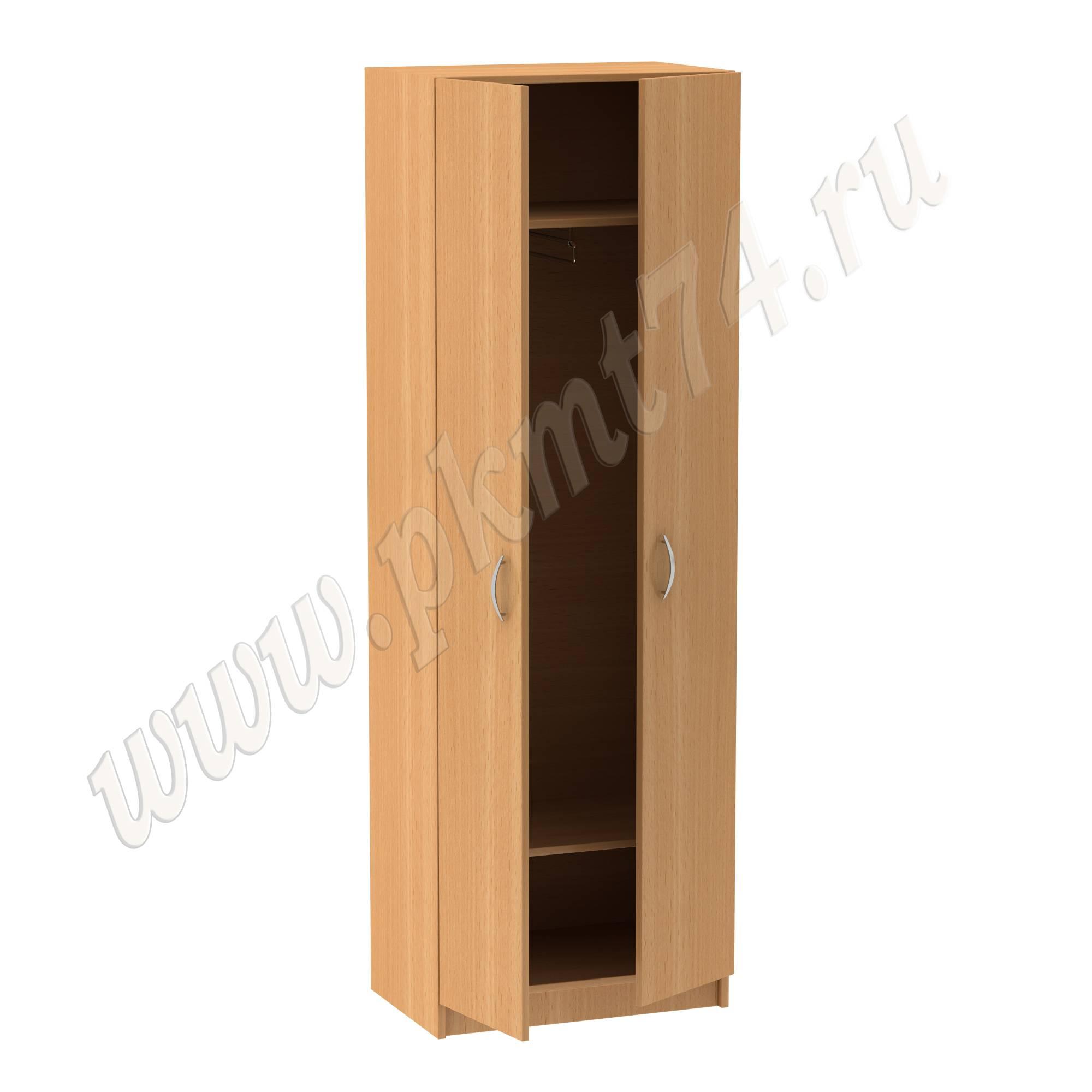 Шкаф для одежды узкий, с выкатываемой штангой МТ 14-6 Бук