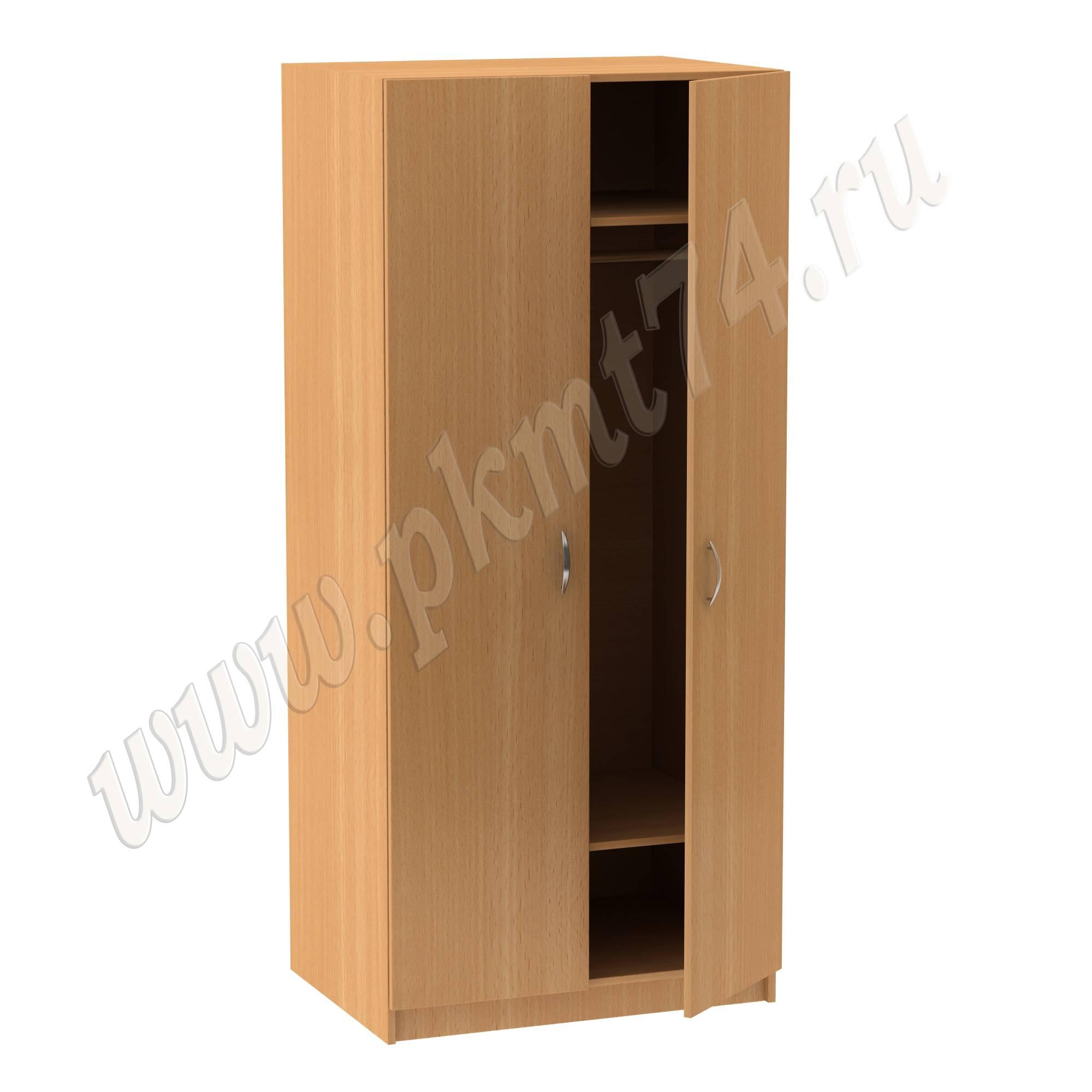 Шкаф для одежды с хромированной штангой МТ 14-9 Бук