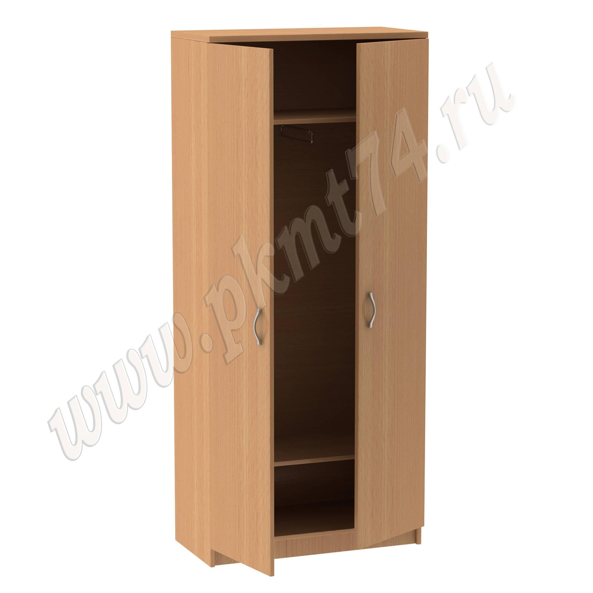 Шкаф для одежды с двумя полками МТ 14-7 бук