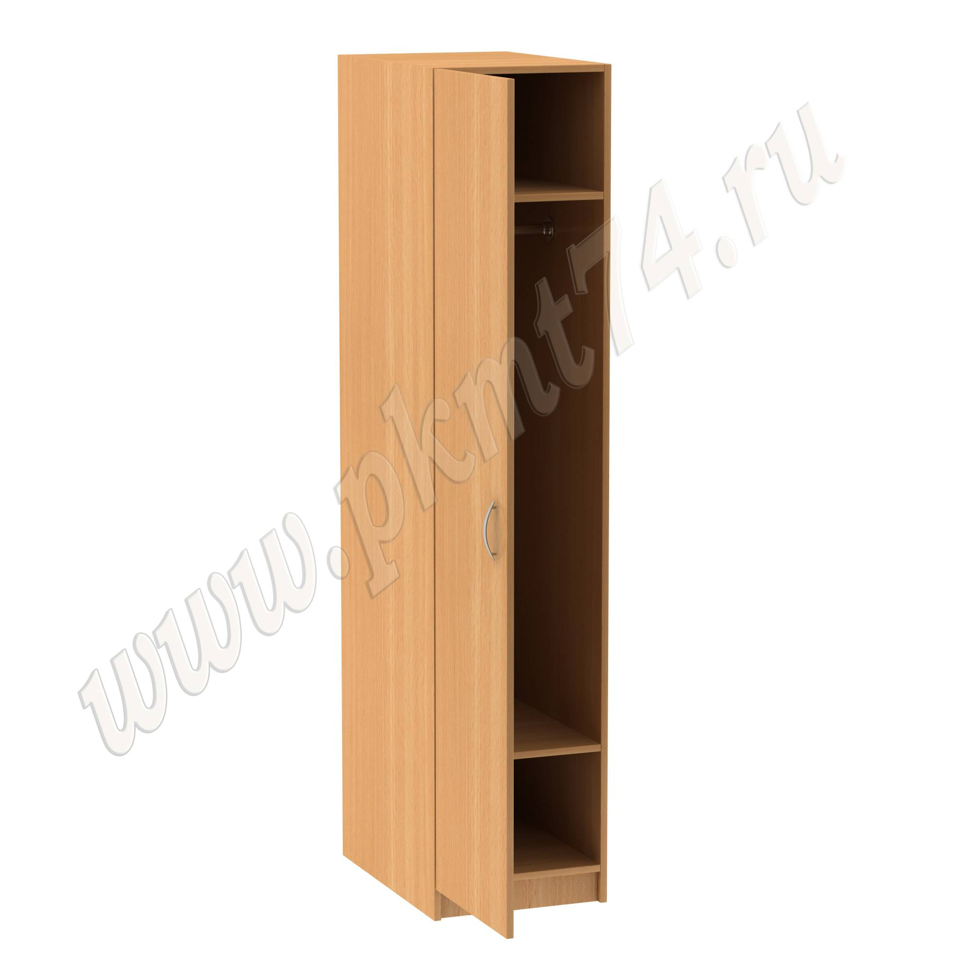 Шкаф для одежды с хромированной трубой МТ 14-8 Бук