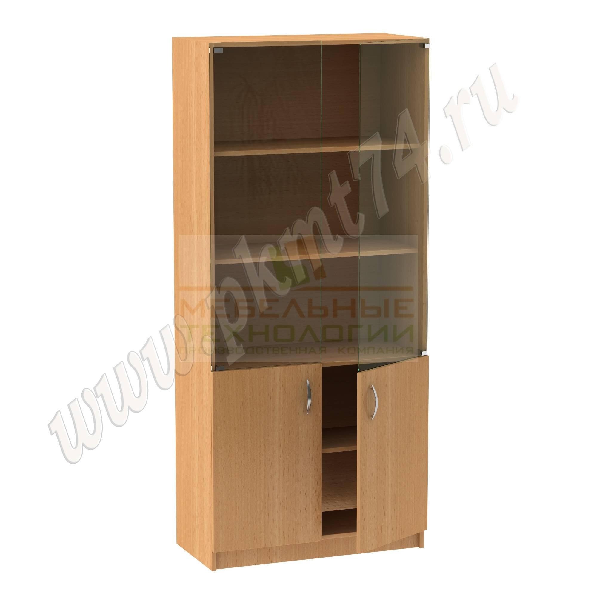 Шкаф для папок со стеклянными дверками МТ 14-4 Бук