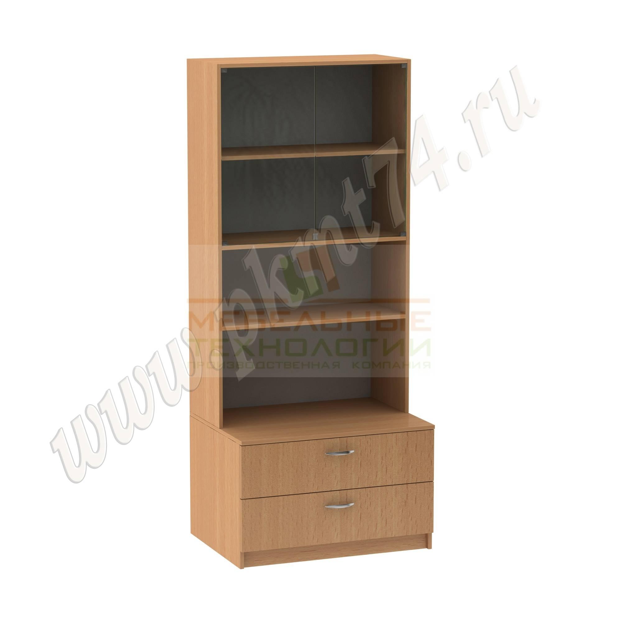 Шкаф для школьного музея [Цвет ЛДСП:: бук Бавария светлый]