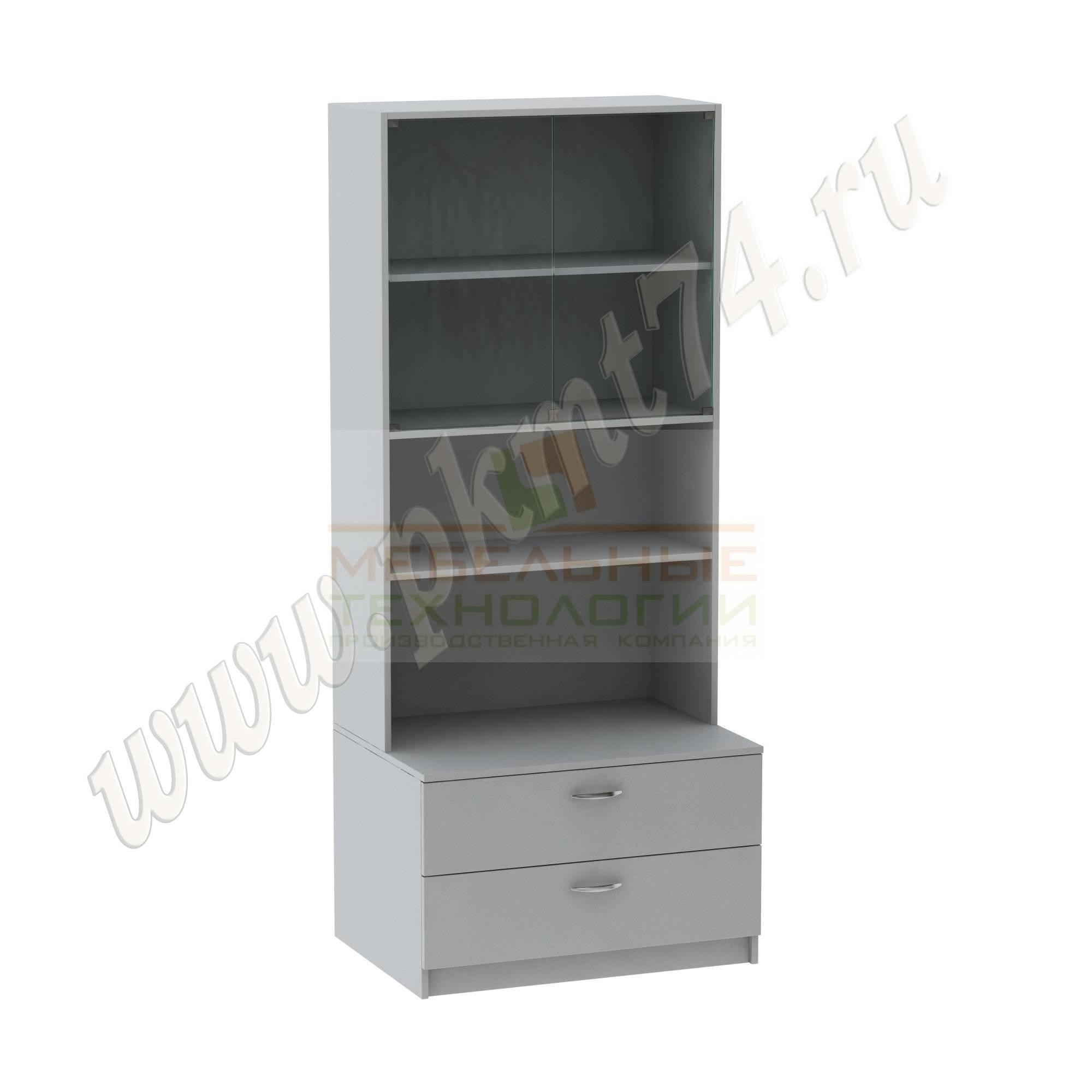Шкаф для школьного музея [Цвет ЛДСП:: Серый]