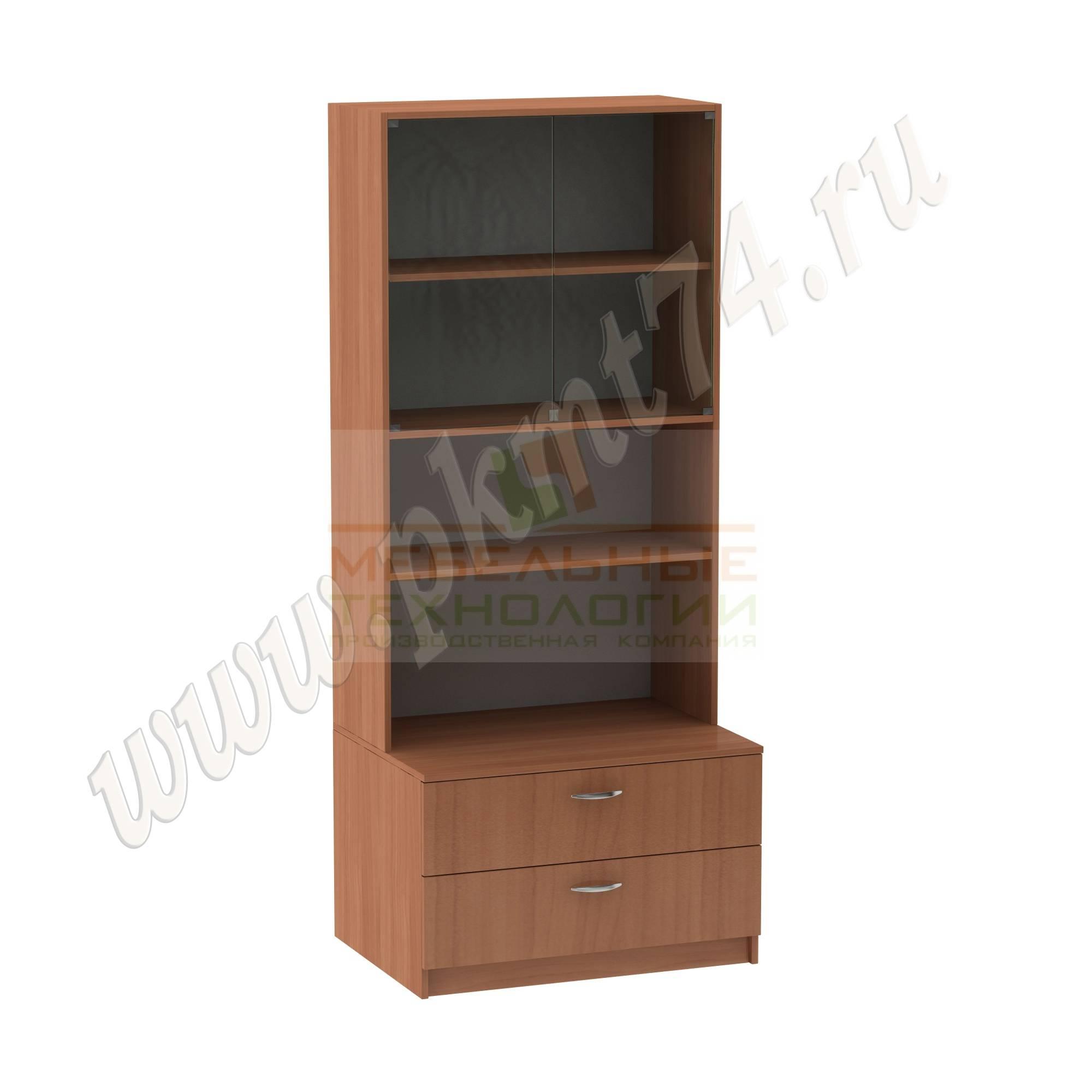 Шкаф для школьного музея [Цвет ЛДСП:: Вишня Оксфорд]
