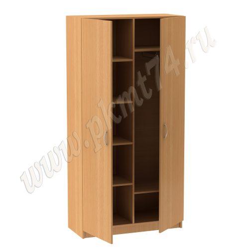 Шкаф комбинированный с хромированной трубой