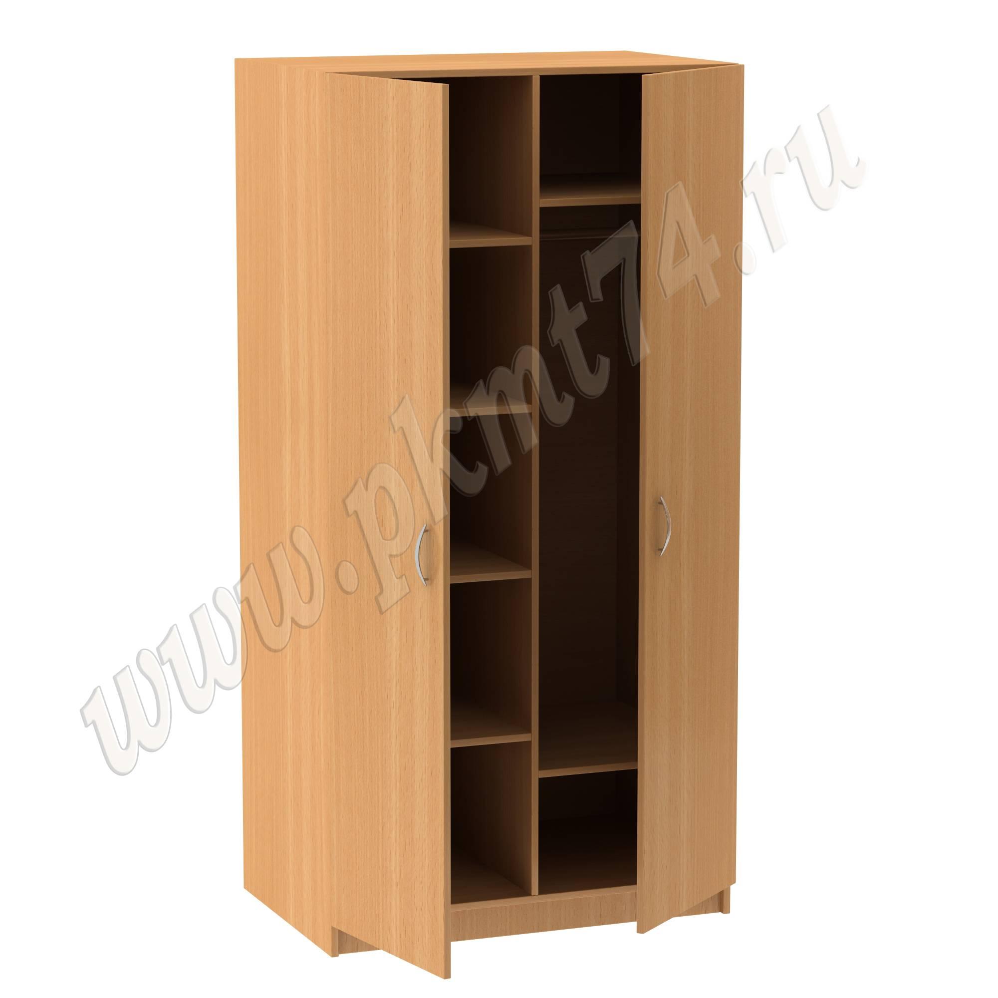 Шкаф комбинированный с хромированной трубой МТ 14-13 бук