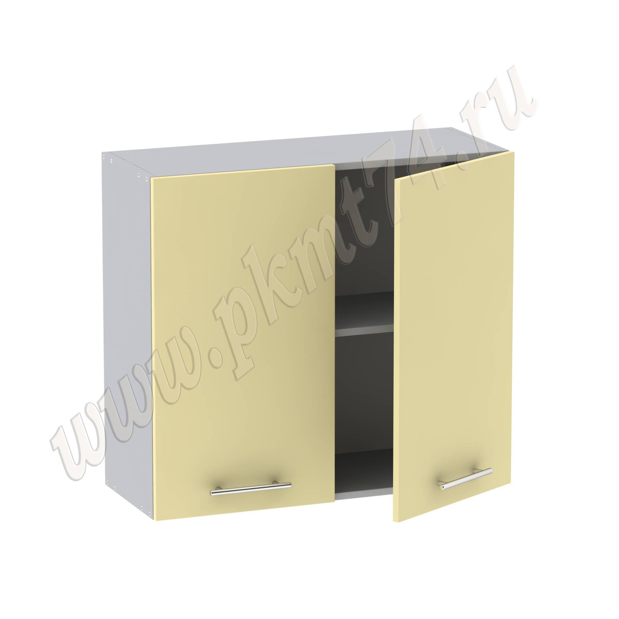 Кухонный шкаф навесной широкий с полкой