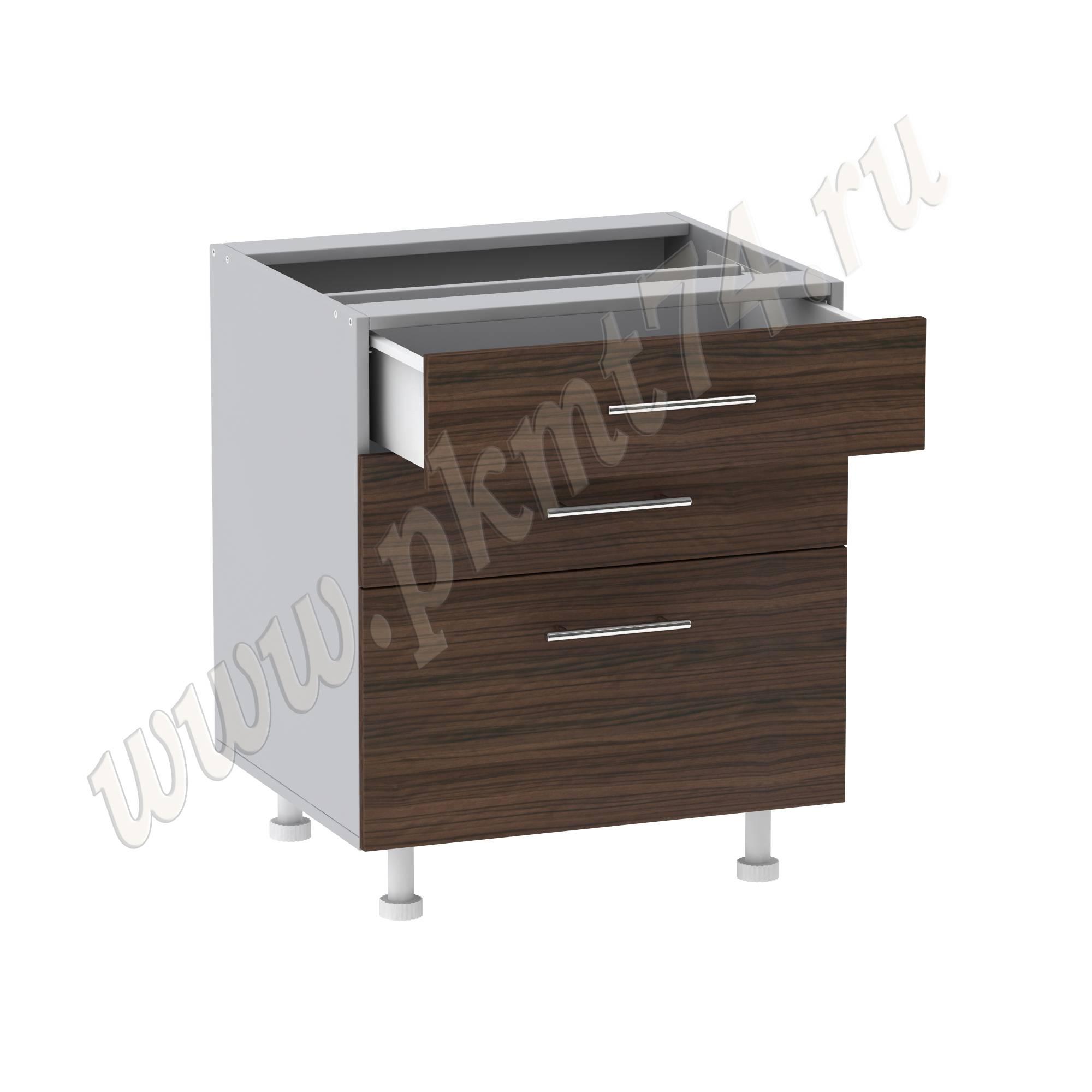 Шкаф кухонный с тремя ящиками, нижний