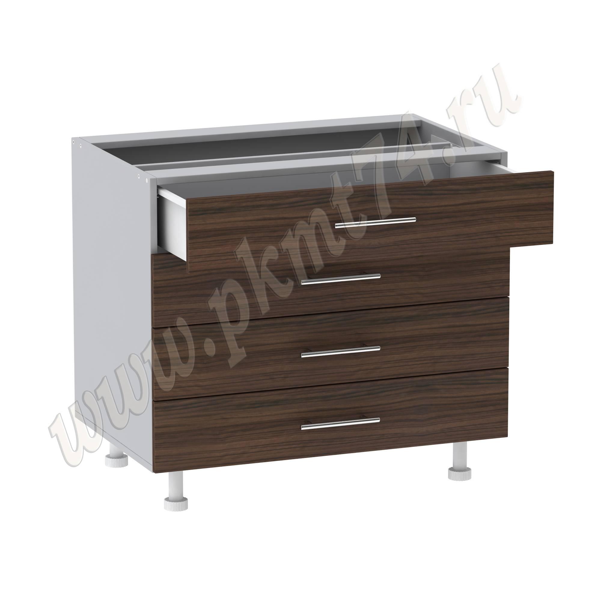 Шкаф кухонный широкий с четырьмя ящиками