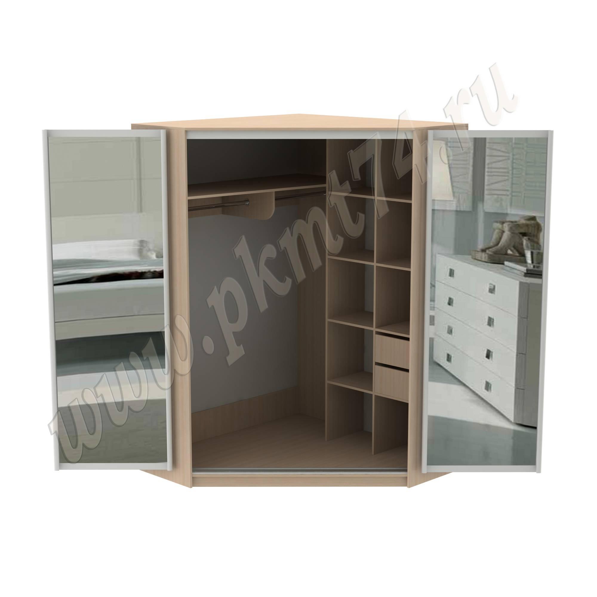 Шкаф с раздвижными зеркальными дверями МТ 15-22 ДубМол