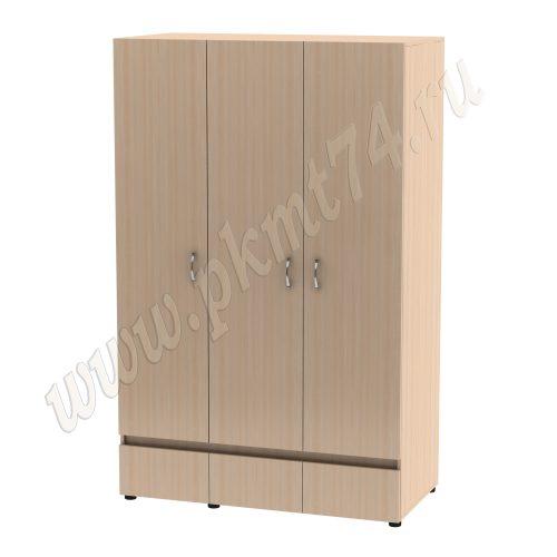 Шкаф плательный комбинированный трехдверный MT 14-21 Дуб Мол