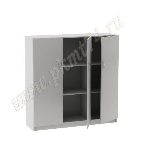 Шкаф с двумя полками для документов MT 14-12 Серый