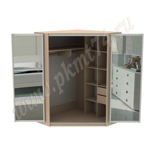Шкаф с раздвижными зеркальными дверями MT 15-22 Дуб мол.