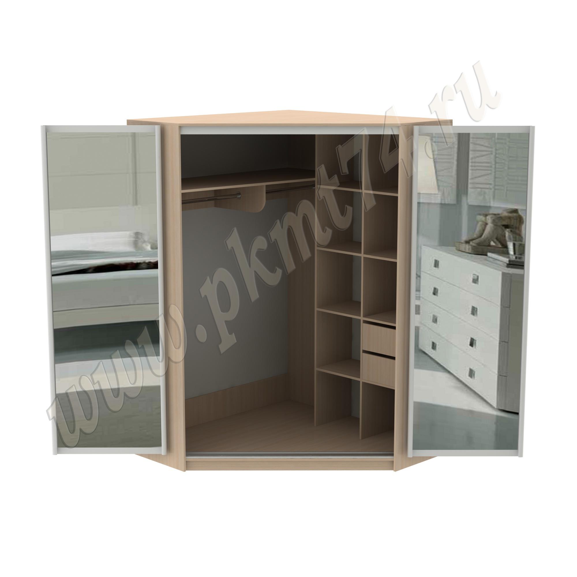 Шкаф с раздвижными зеркальными дверями MT-15-22-DubMol