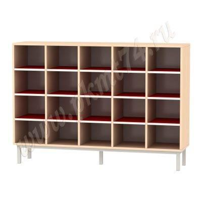 Шкаф с ячейками для 20 горшков МТ 17-86 Дуб Мол-Красный