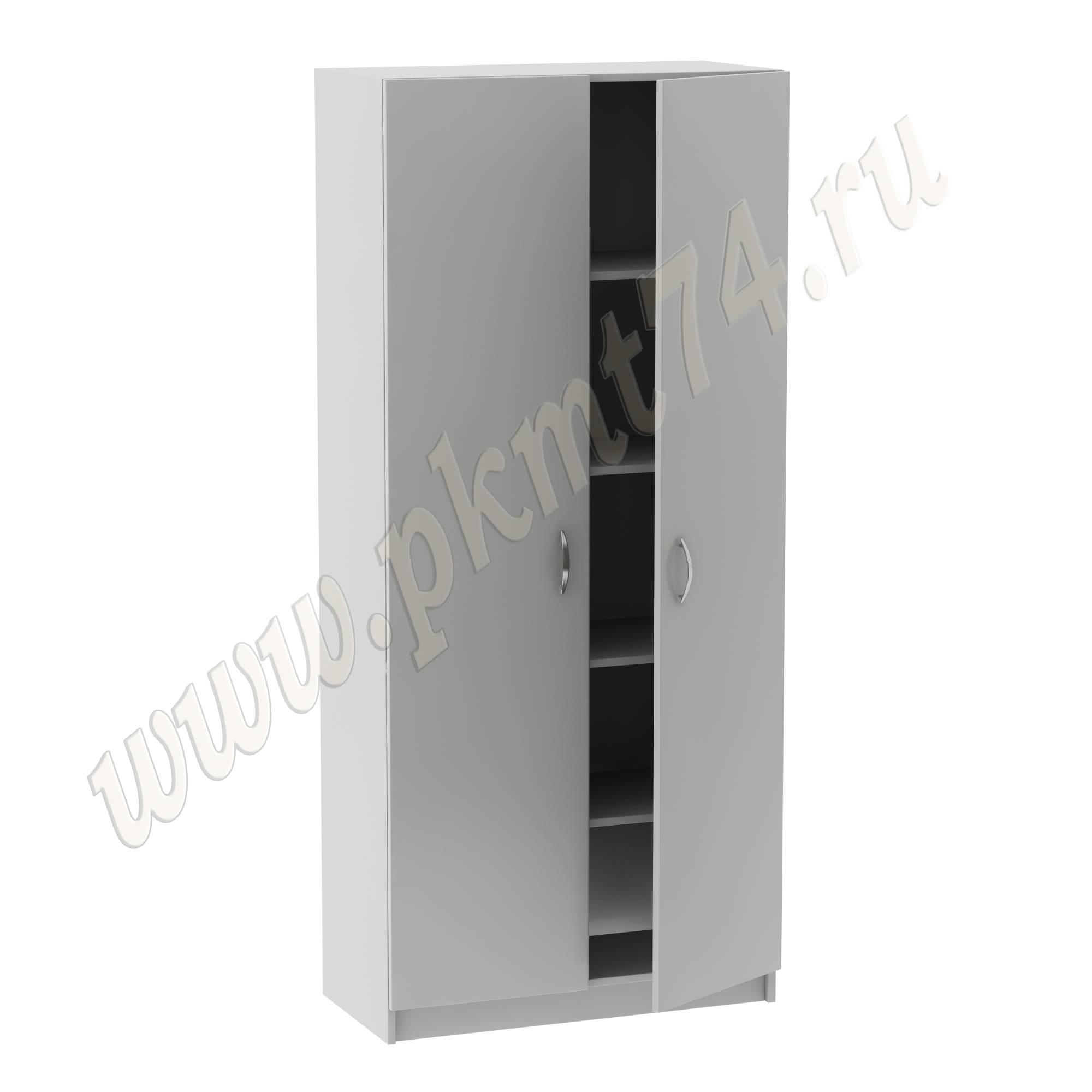 Шкаф с полками для кабинета врача MT 14-3 серый