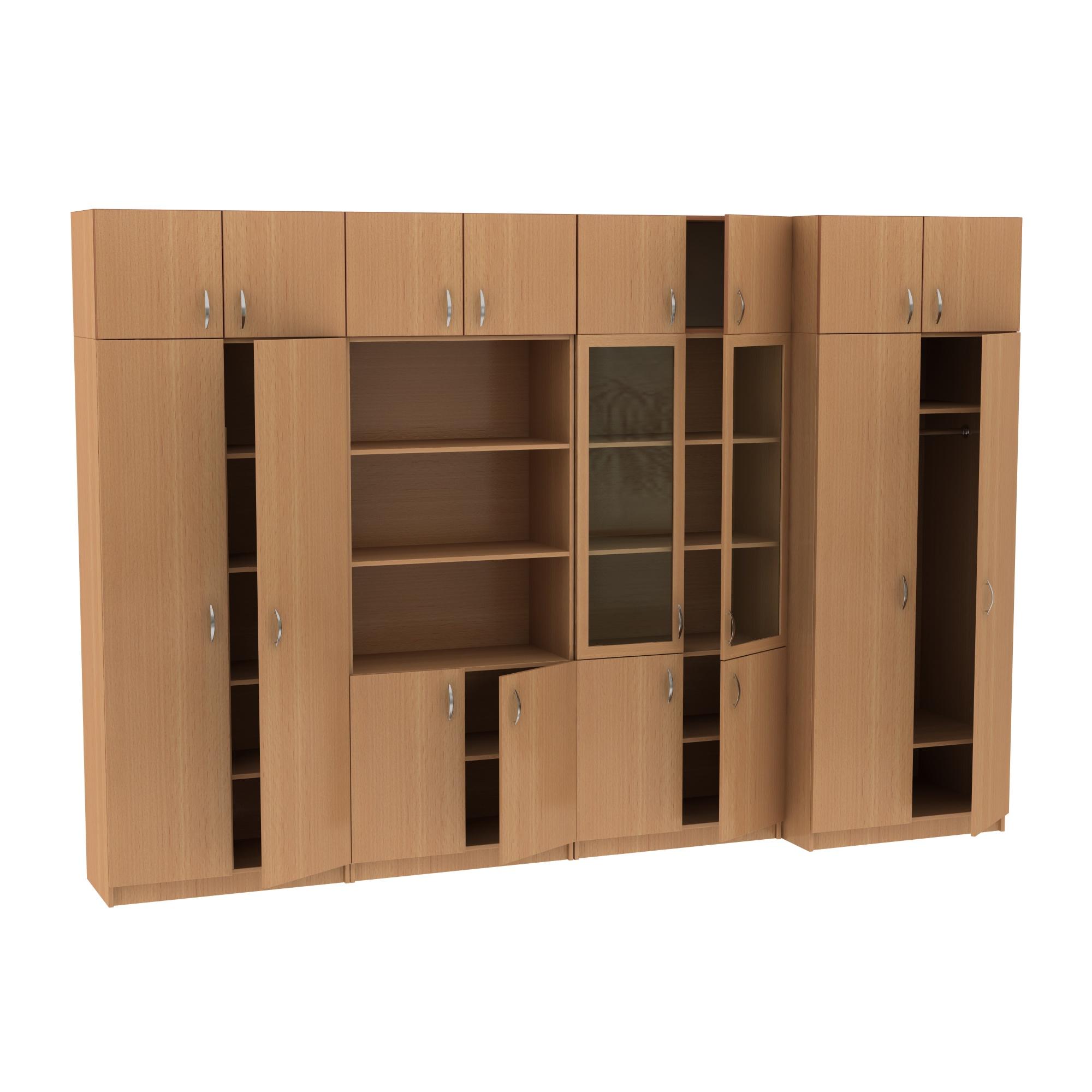 Шкафы в кабинет с антресолями MT 14-34-8 Клен