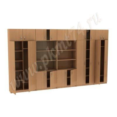 Секция из пяти шкафов с антресолями МТ 14-34-11 Бук