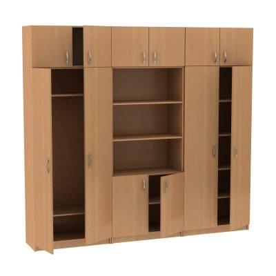 Секция из шкафов с антресолями МТ 14-34-3 Бук
