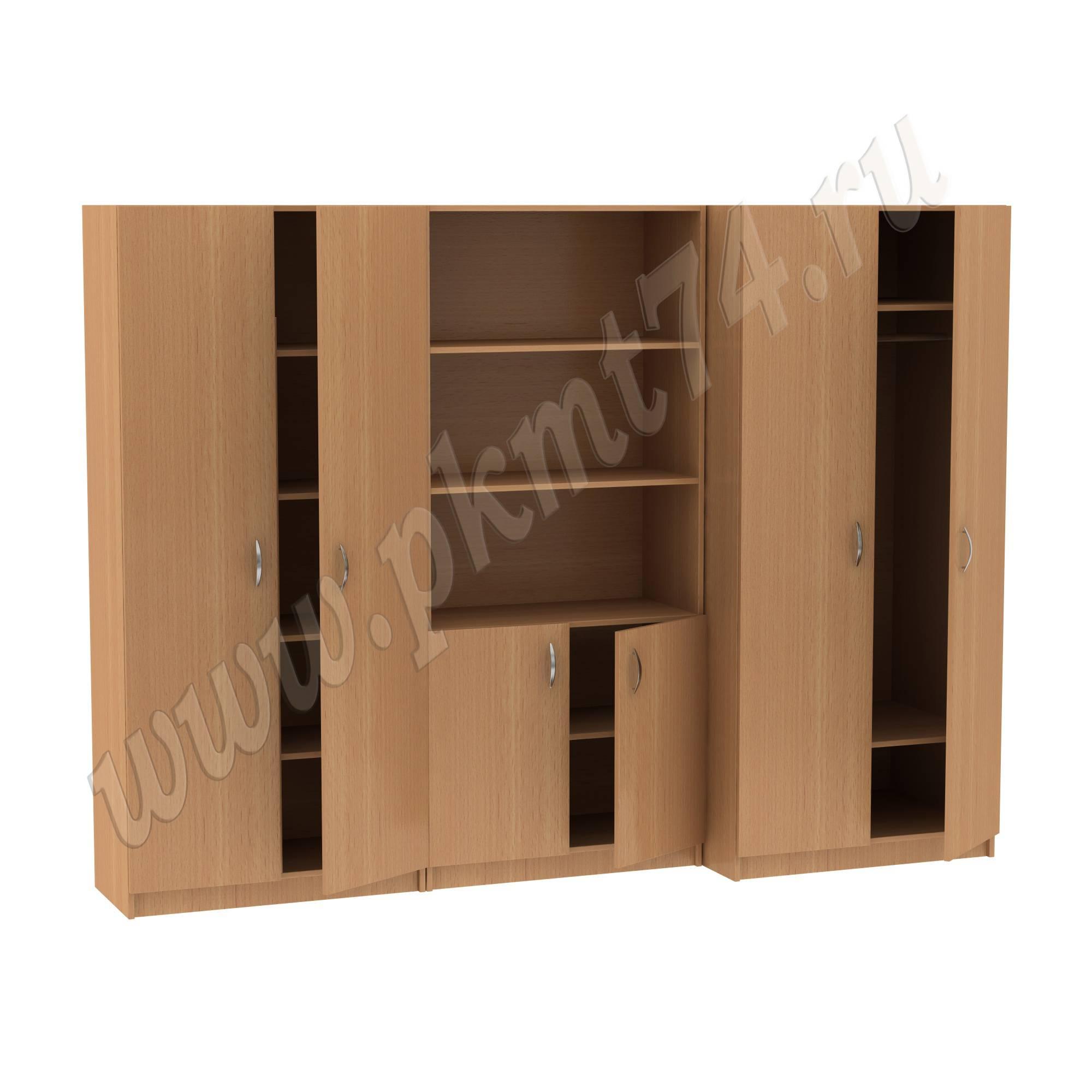 Секция из трех шкафов 14-34-1 Бук