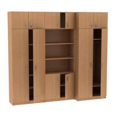 Секция из трех шкафов с антресолями МТ 14-34-7 Бук