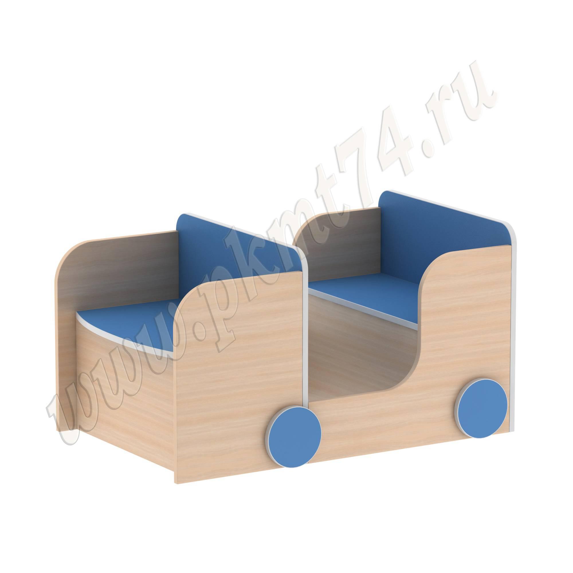 Стеллаж для игрушек Машина МТ 17-93 ДубМол+Син