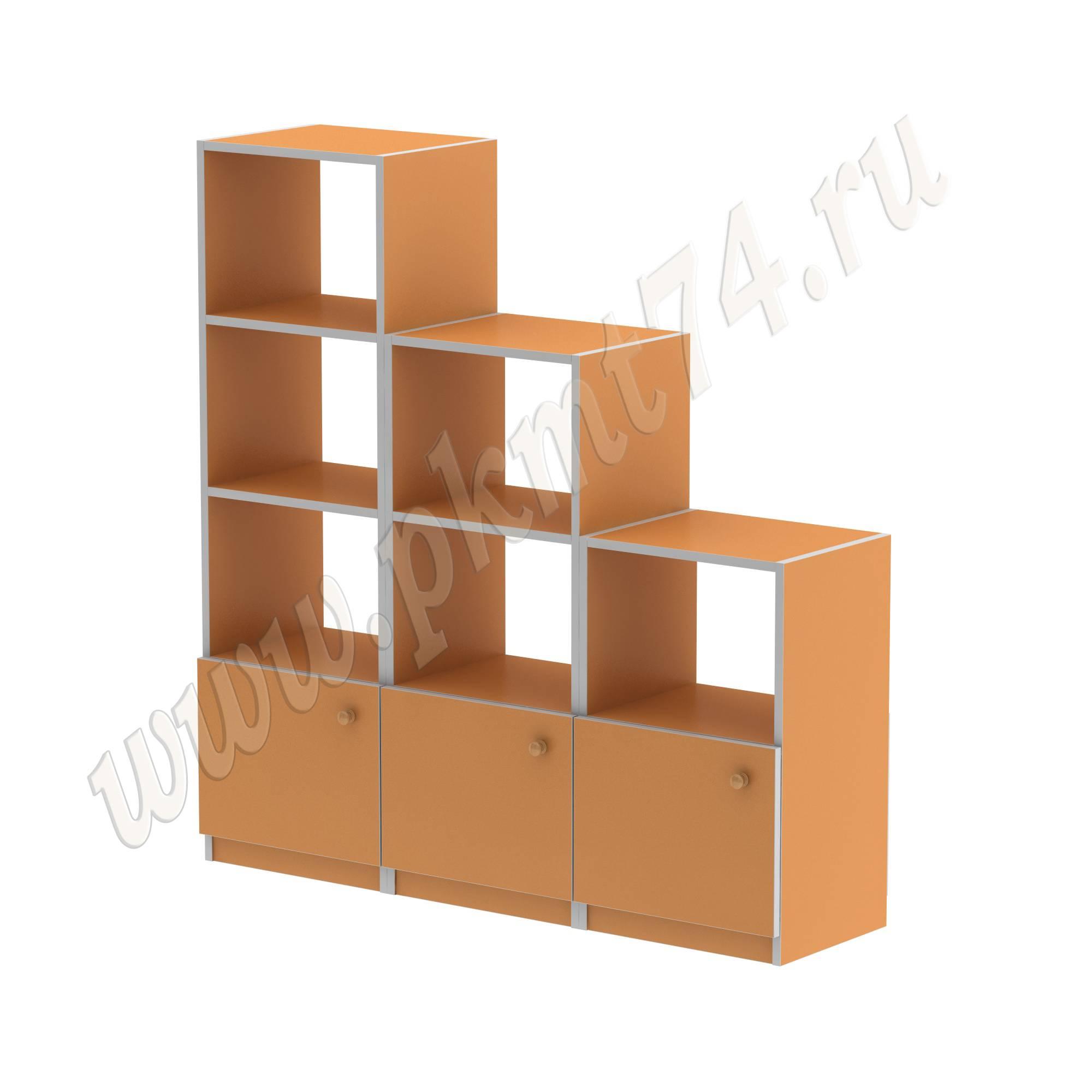 Стеллаж для игрушек и пособий МТ 17-63 Оранжевый