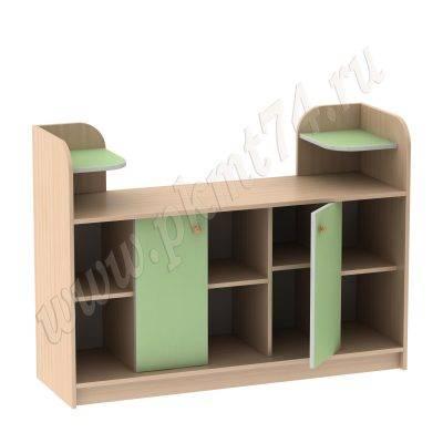 Стенка для игрушек МТ 17-65 ДубМол+Зел