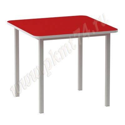 Стол детский на металлическом каркасе четырехместныйМТ 17-4 Красный