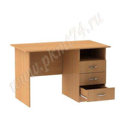 Стол для общежития однотумбовый МТ 06-9 Бук