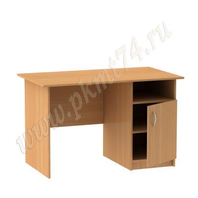Стол для общежития письменный однотумбовый МТ 06-7 Бук