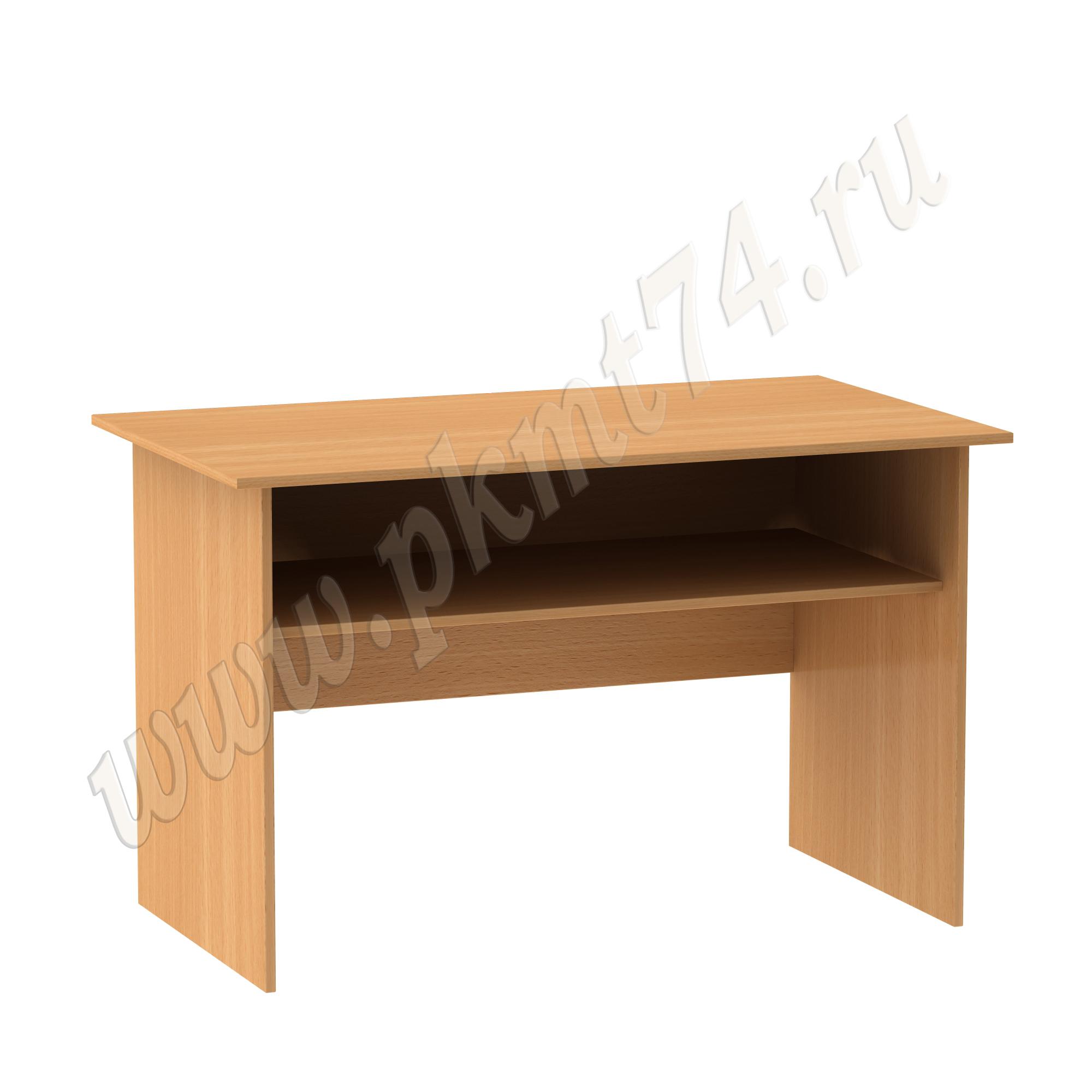Стол для общежития письменный с полкой МТ 06-2 Бук Бавария светлый