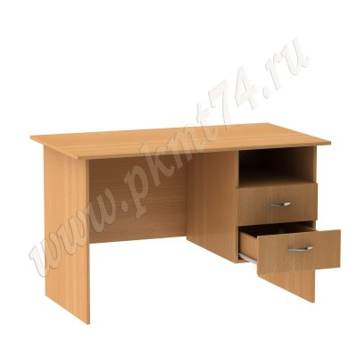 Стол для общежития с нишей и двумя ящиками МТ 06-13 Бук