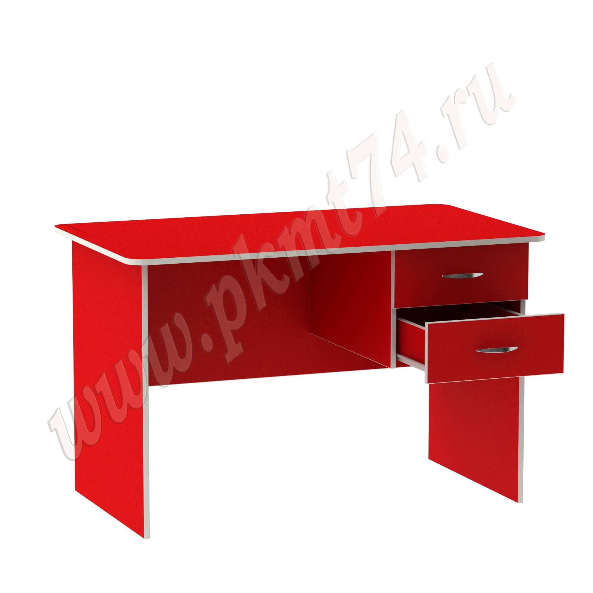 Стол для воспитателя с двумя ящиками МТ 06-8 Красный
