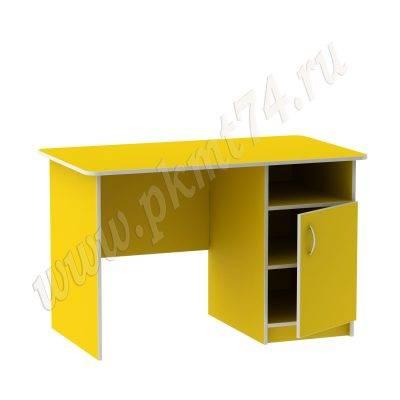 Стол для воспитателя с тумбой МТ 06-7 Желтый