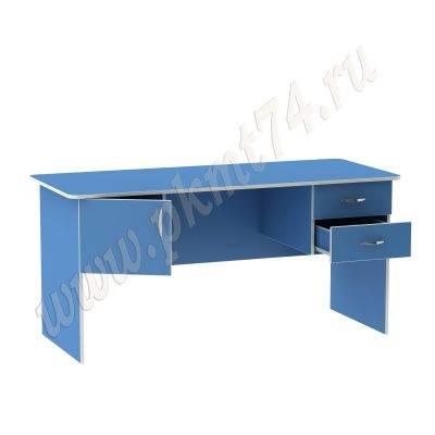 Стол для воспитателя широкий МТ 06-11 Голубой