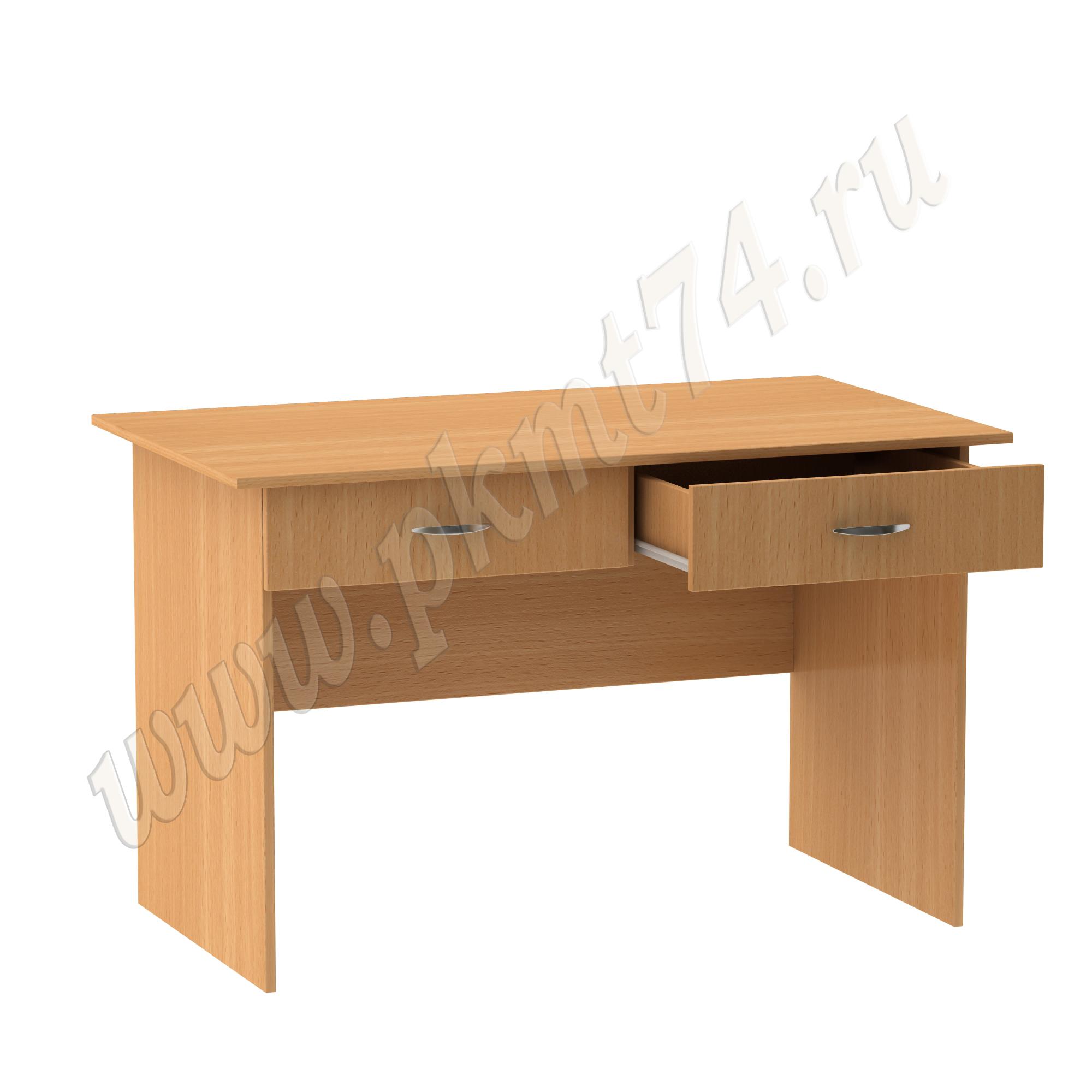 Стол для врача письменный с двумя ящиками [Цвет ЛДСП:: бук Бавария светлый]