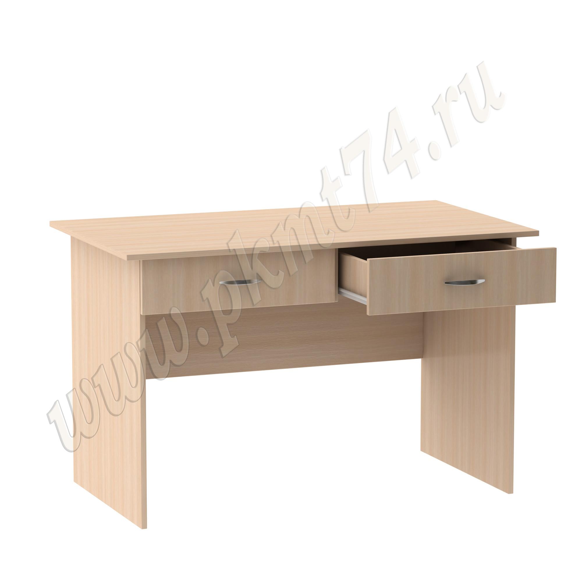 Стол для врача письменный с двумя ящиками [Цвет ЛДСП:: дуб Молочный]