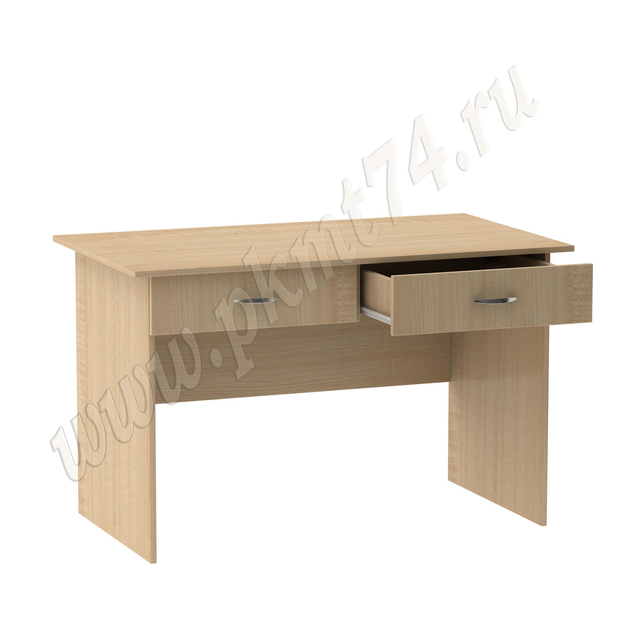 Стол для врача письменный с двумя ящиками [Цвет ЛДСП:: Клён]