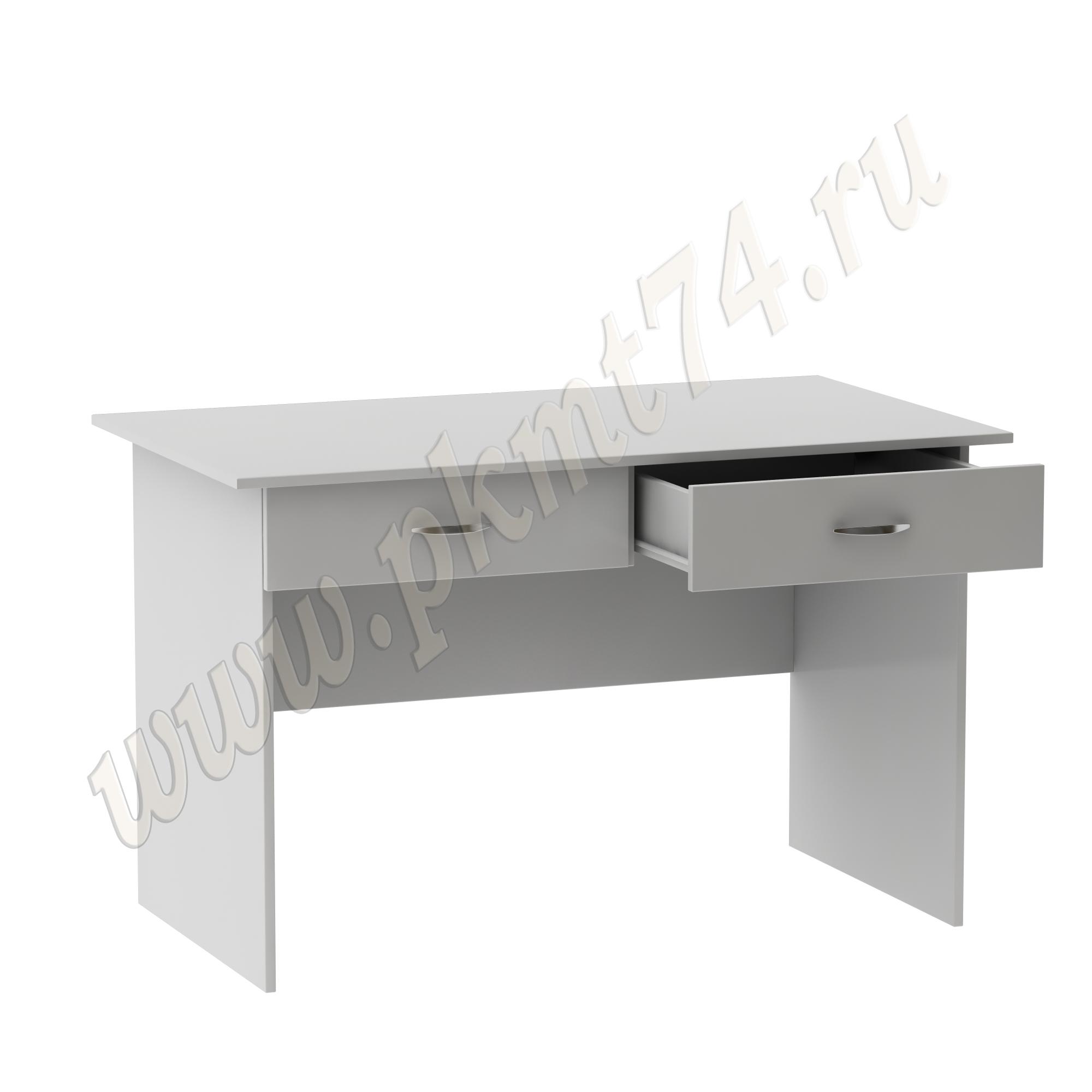 Стол для врача письменный с двумя ящиками [Цвет ЛДСП:: Серый]