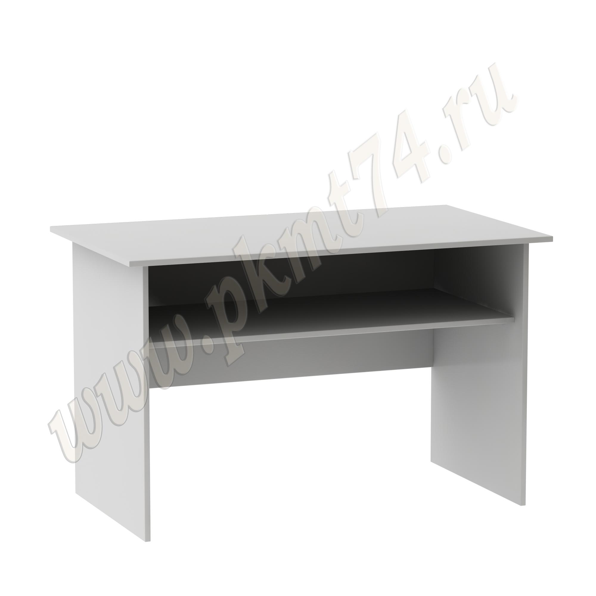 Стол для врача письменный с полкой [Цвет ЛДСП:: Серый]